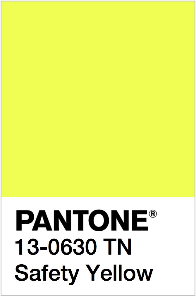 PANTONE NEON YELLOW COLOR SWATCH