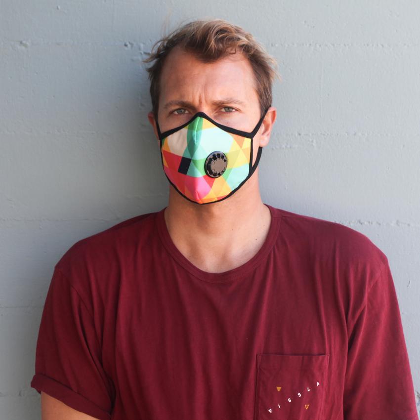 Vogmask - Paradise. Vogmask is the original stylish filtering half mask for particles.