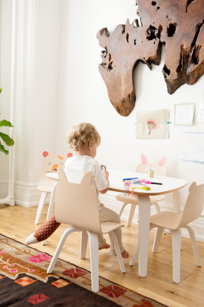 Oeuf Kids Play Table in White - £285.00.
