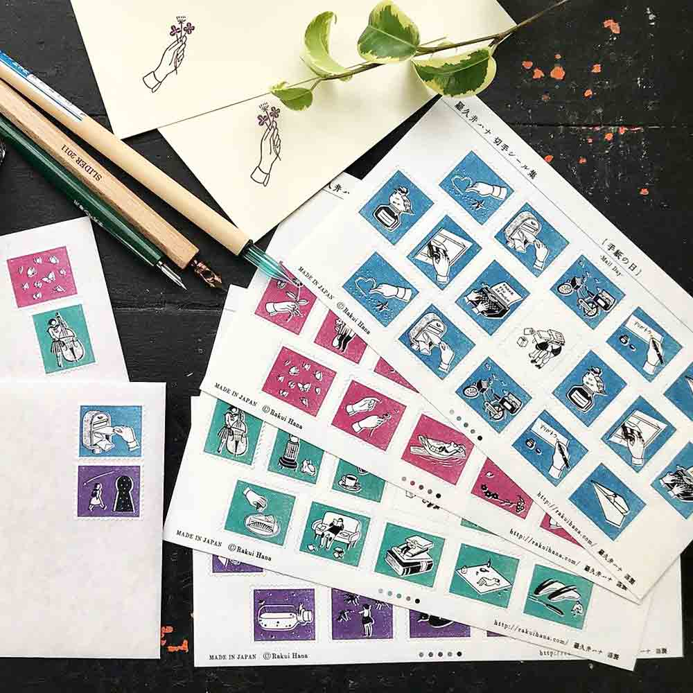 Rakui Hana Stamp Sticker Collection