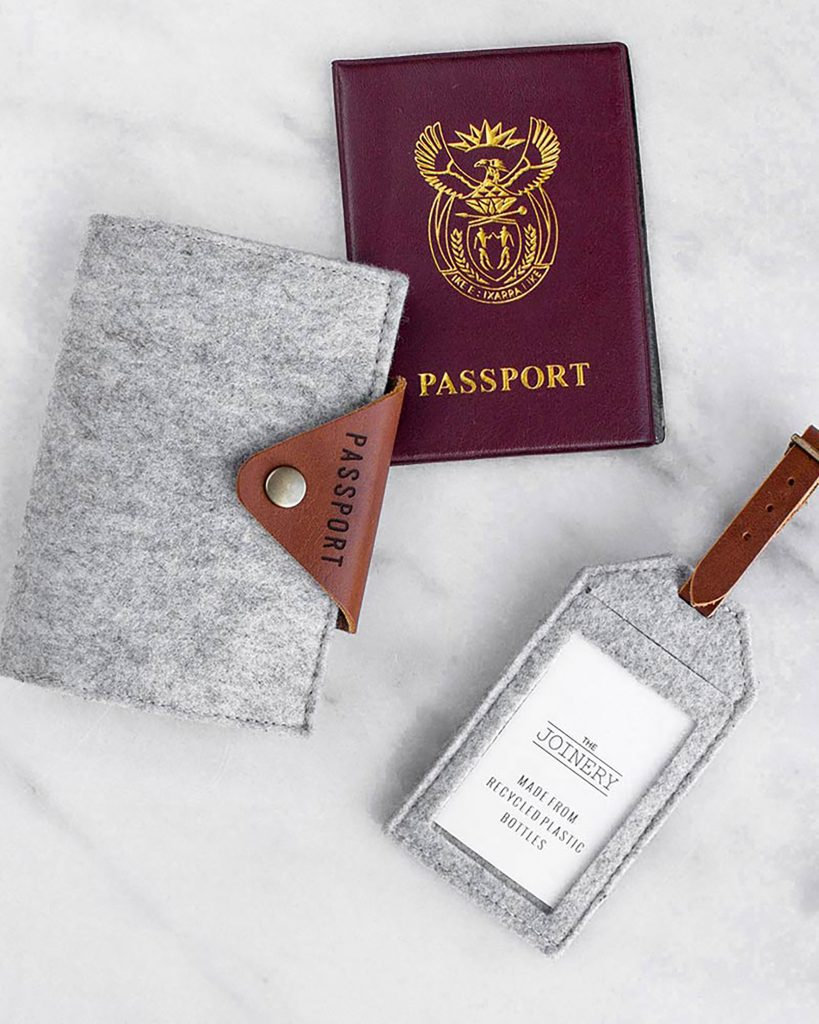 Buxton Hanley's Recycled plastic bottle Passport Holder is the perfect accessory for traveling. Fits all passports. Handmade in South Africa by Buxton Hanley's talented Artisans, who have been up-skilled to produce these beautiful products.