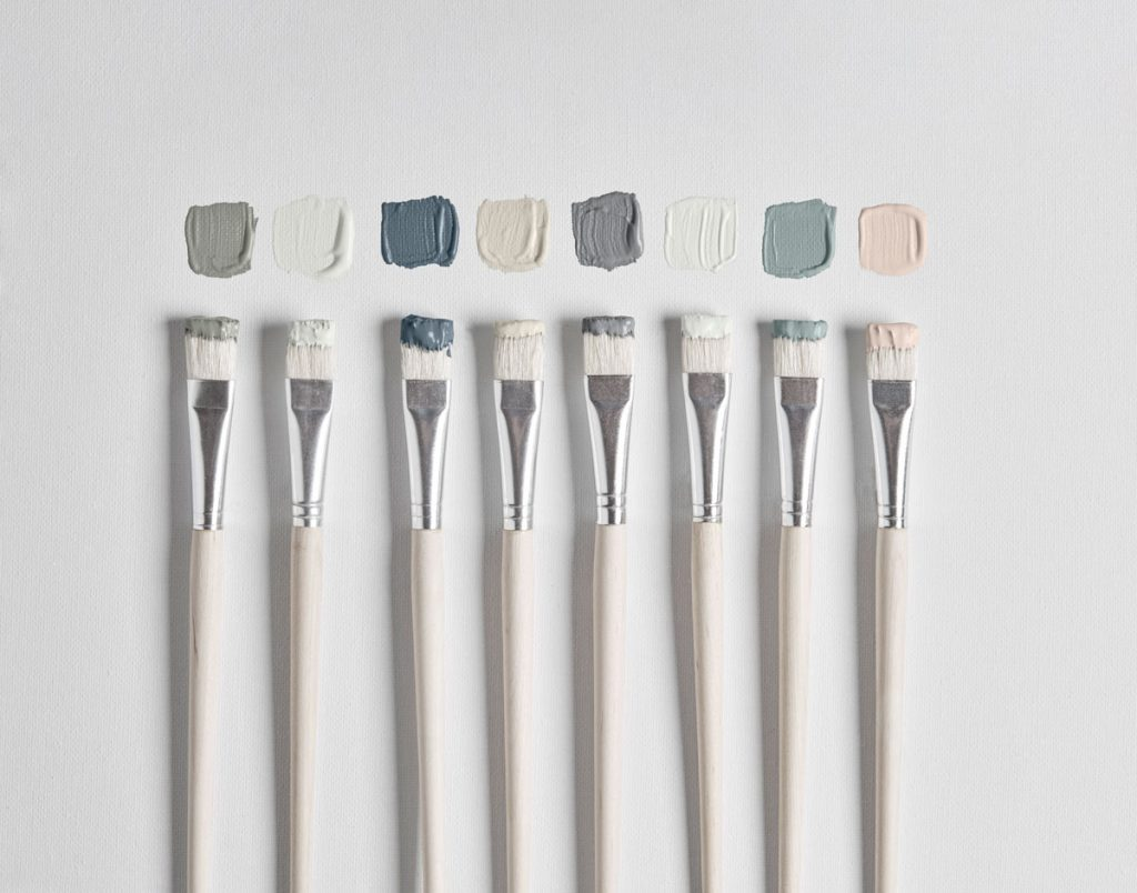 Carefully curated, Cox & Cox's paint collection palette is made up of 16 shades - the four essential neutrals, definitive greys, statement trend, and timeless blues.