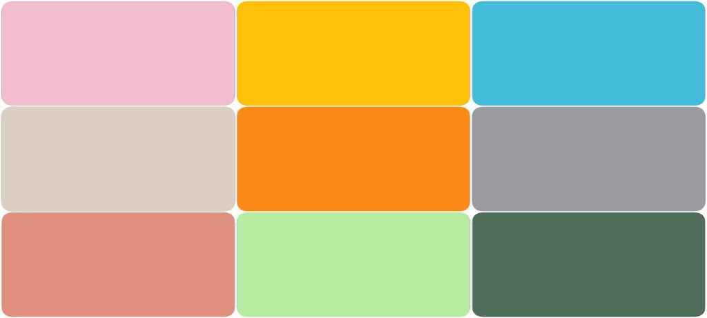 ISPO Color Palette for Spring/Summer 2022.