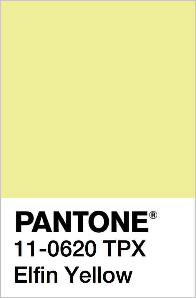 PANTONE 11-0620 TPX Elfin Yellow