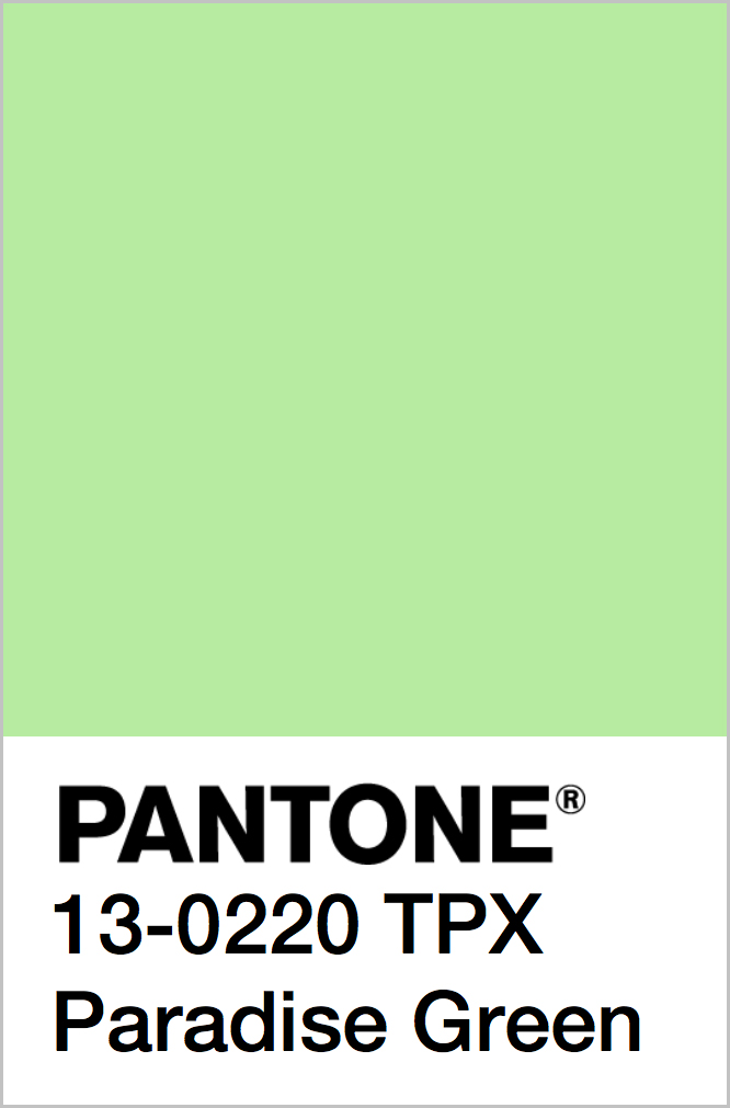 PANTONE 13-0220 TPX Paradise Green