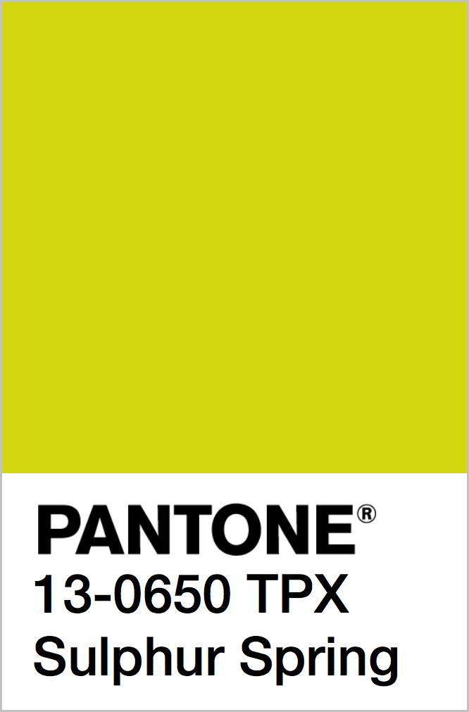 PANTONE 13-0650 TPX Sulphur Spring