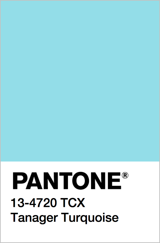 PANTONE 13-4720 TCX Tanager Turquoise
