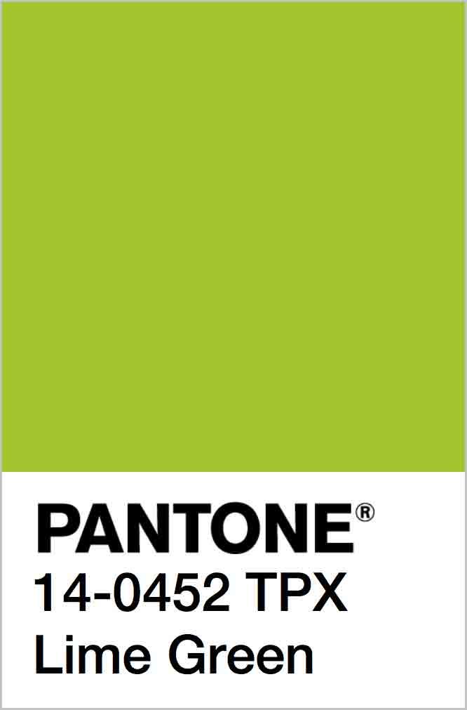 PANTONE 14-0452 TPX Lime Green