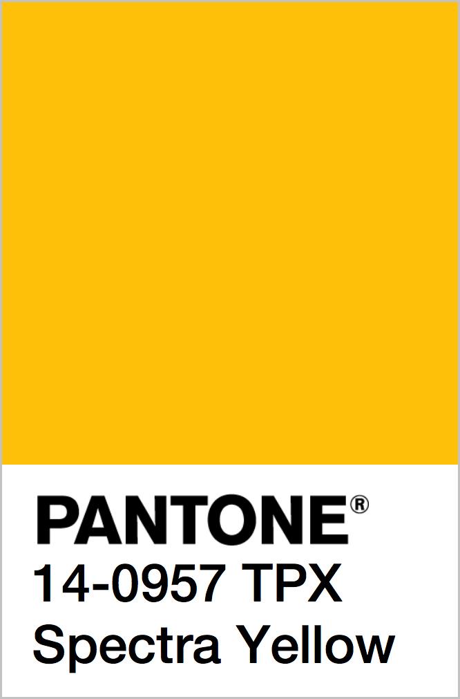 PANTONE 14-0957 TPX Spectra Yellow