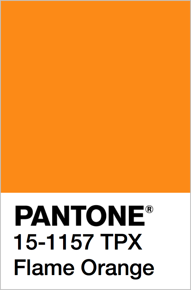 PANTONE 15-1157 TPX Flame Orange