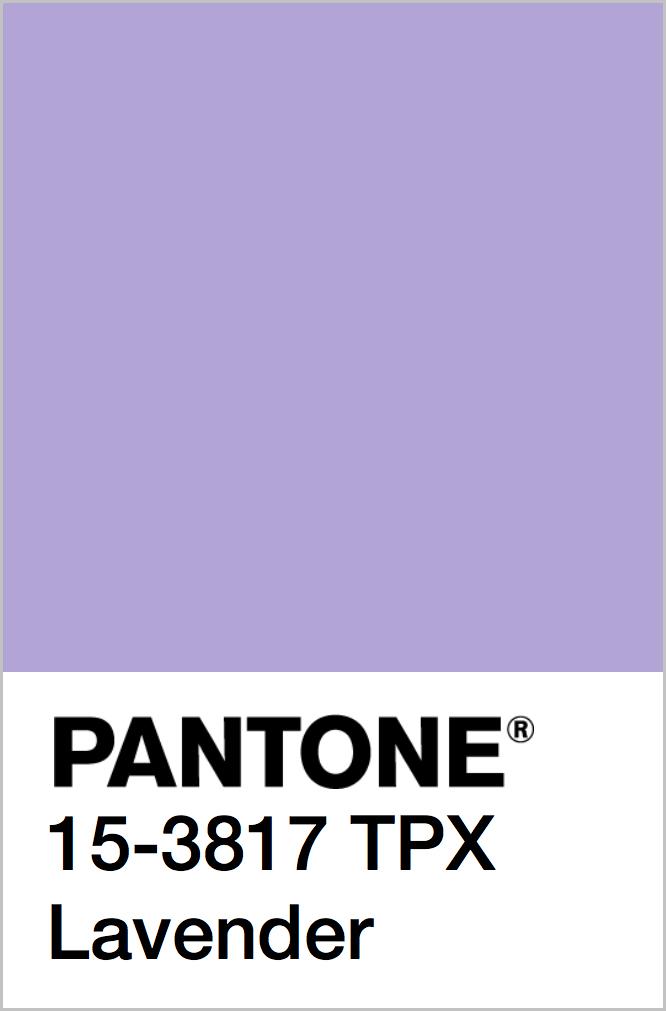 PANTONE 15-3817 TPX Lavender