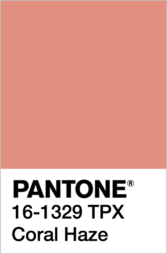 PANTONE 16-1329 TPX Coral Haze