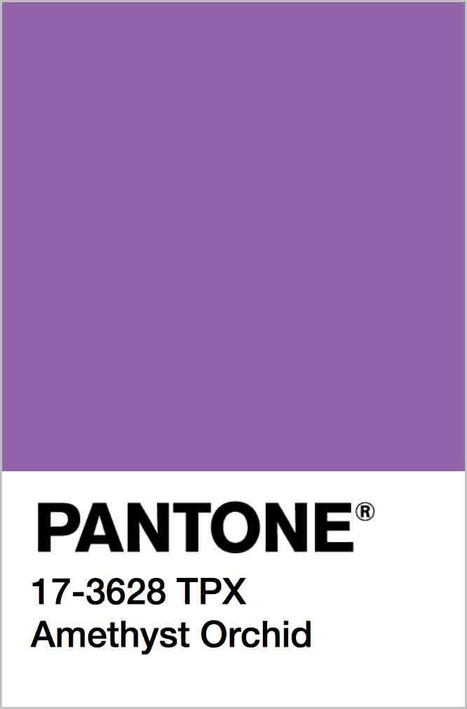 PANTONE 17-3628 TPX Amethyst Orchid