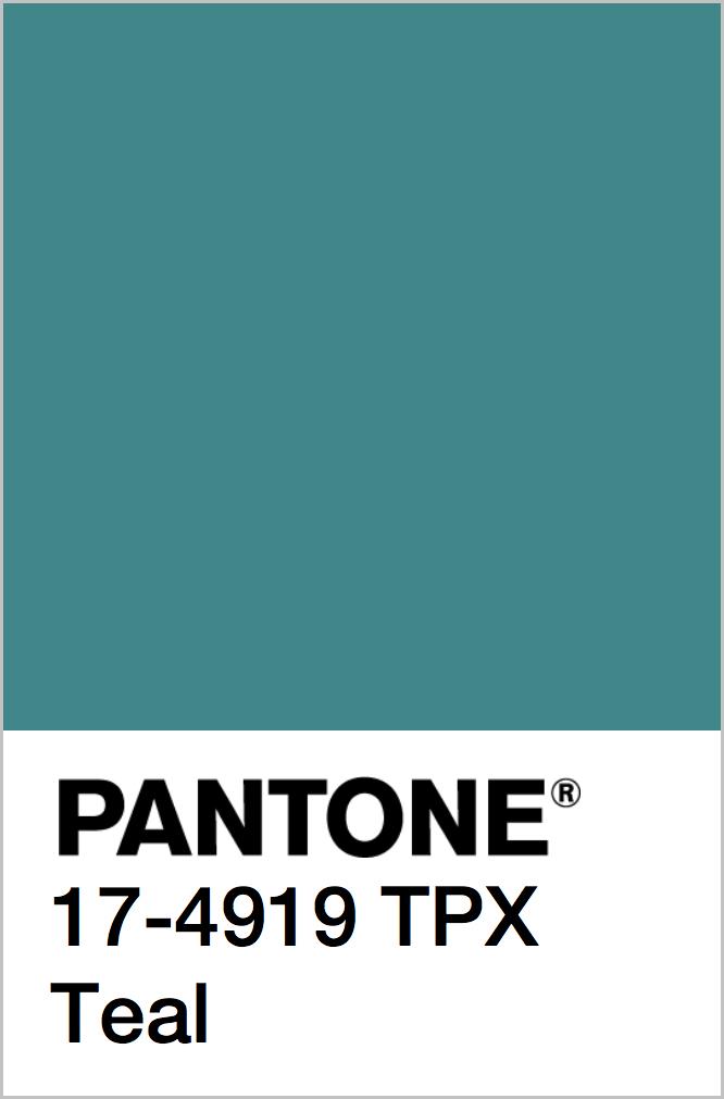 PANTONE 17-4919 TPX Teal