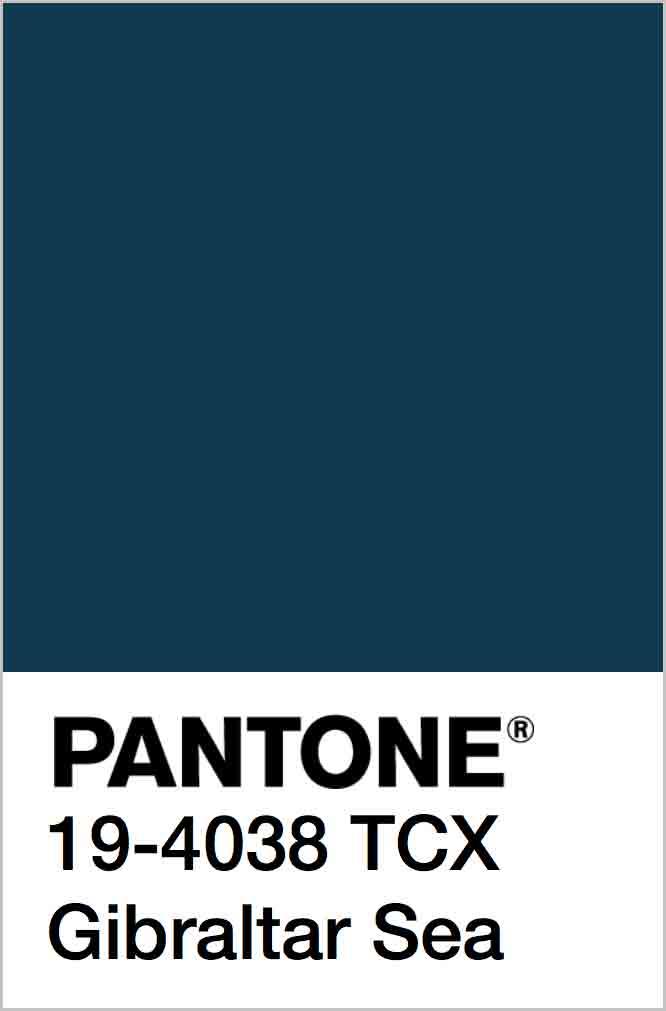 PANTONE 19-4038 TCX Gibraltar Sea