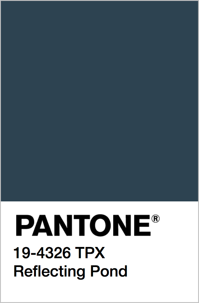 PANTONE 19-4326 TPX Reflecting Pond