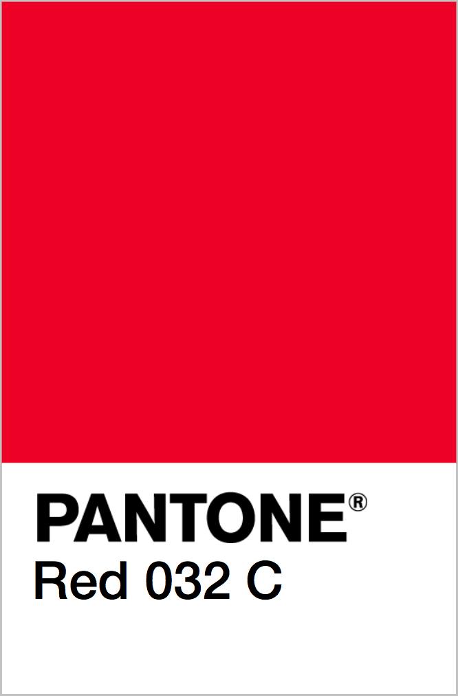 PANTONE Red 032 C