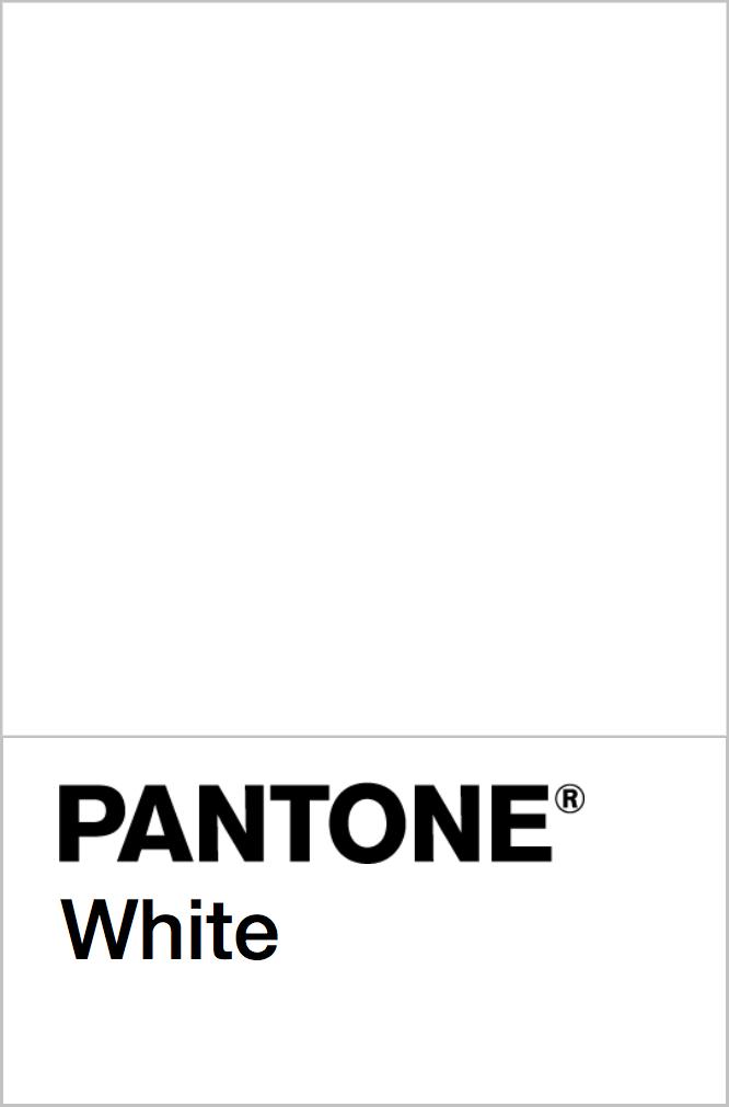 PANTONE White