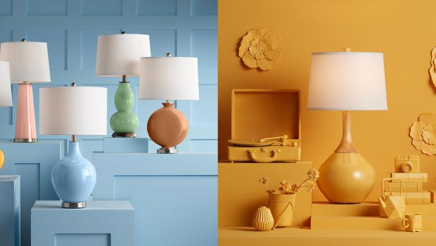 Lamps Plus Partners with Dunn-Edwards to Offer New Color-Focused Lighting and Lamp Shade Collection in Five 2021 Color and Design Trends Paint Colors
