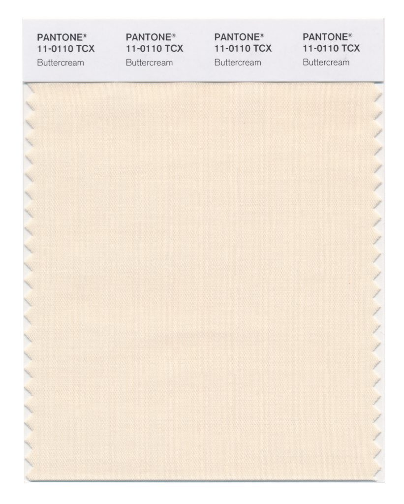 PANTONE 11-0110 TCX Buttercream. Smooth Buttercream is an easy and effortless delicious off- white.