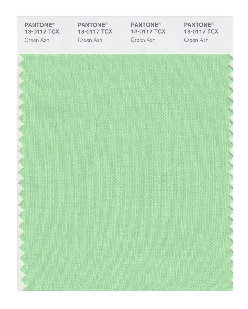 PANTONE 13-0117 TCX Green Ash. A mentholated Green that cools and soothes