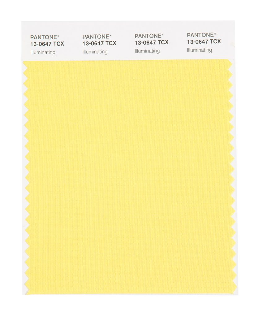 PANTONE 13-0647 TCX Illuminating. Friendly and joyful, an optimistic yellow offering the promise of a sunny day.