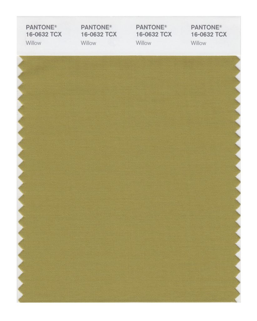 PANTONE 16-0632 TCX Willow. A canopy of green that reveals and conceals.
