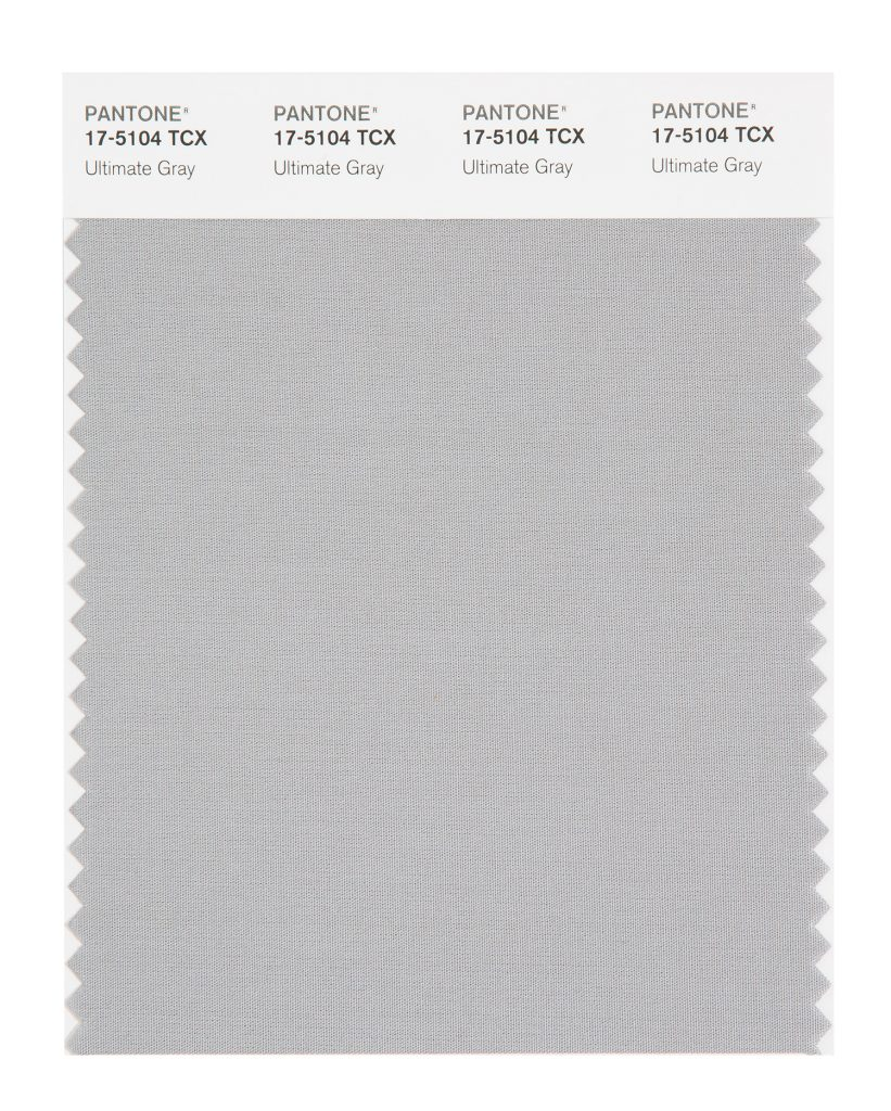 PANTONE 17-5104 TCX Ultimate Gray. Quietly assuring and reliable gray encouraging composure.