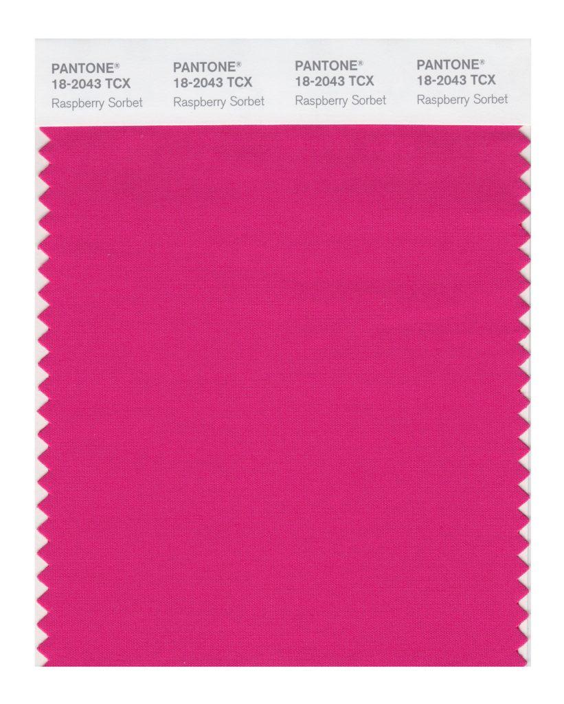 PANTONE 18-2043 TCX Raspberry Sorbet. Vivifying Raspberry Sorbet tantalizes.