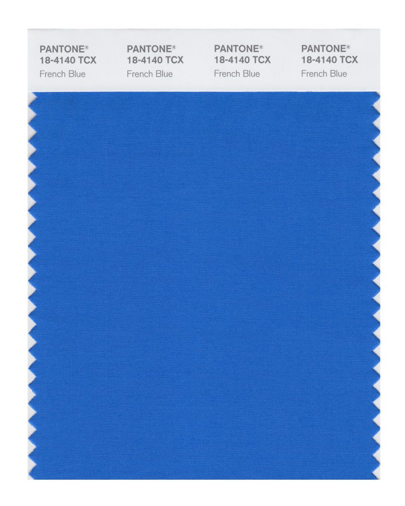 PANTONE 18-4140 TCX French Blue. A stirring blue hue that awakens a vision of Paris in the springtime.