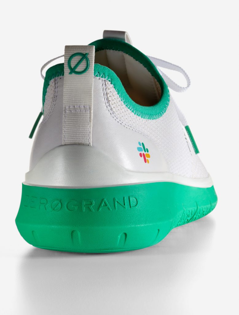 Cole Haan x Slack Generation ZERØGRAND Bright White Stitchlite™ Green - Cole Haan released its latest collaboration, a limited-edition collection with Slack Technologies, Inc.