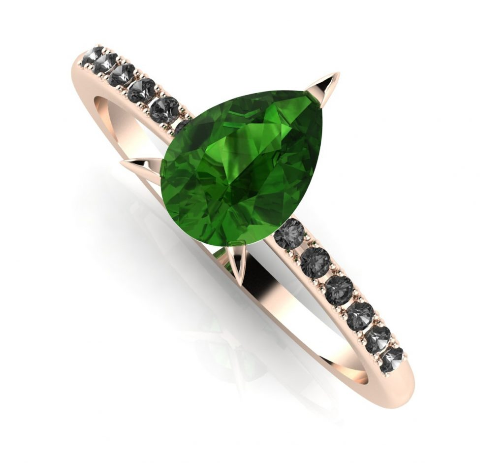 Calista: Green & Black - Rose Gold. Nikki Galloway from Nude Jewellery shares her predictions for the most popular engagement ring styles for 2021.