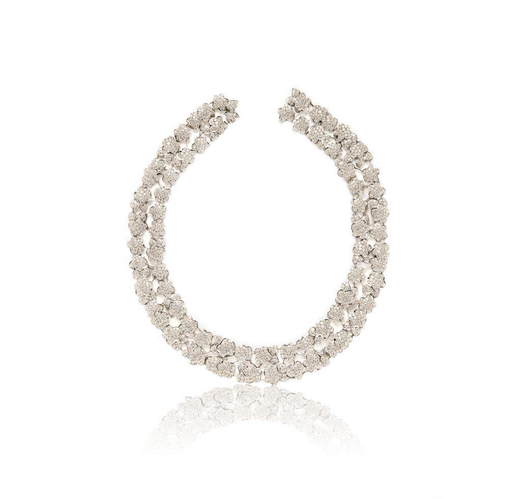 Tiina Smith Jewelry x Michelle Finamore Exhibition - Van Cleef & Arpels Platinum Diamond Melusine Necklace.