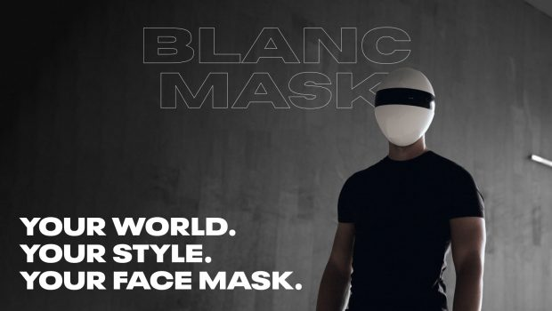 "The Otherworldly, Customizable Full Face Mask; BLANC Mask has been positioned as the ""coolest protection mask"" based on its 4K backers."