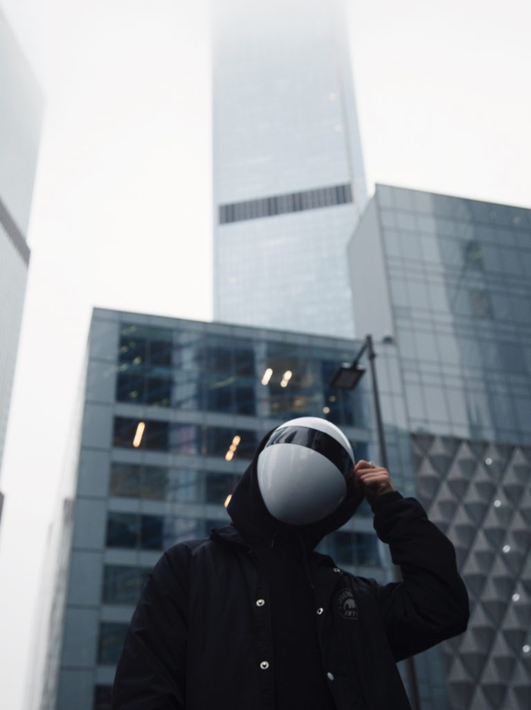 """The Otherworldly, Customizable Full Face Mask; BLANC Mask has been positioned as the """"coolest protection mask"""" based on its 4K backers."""