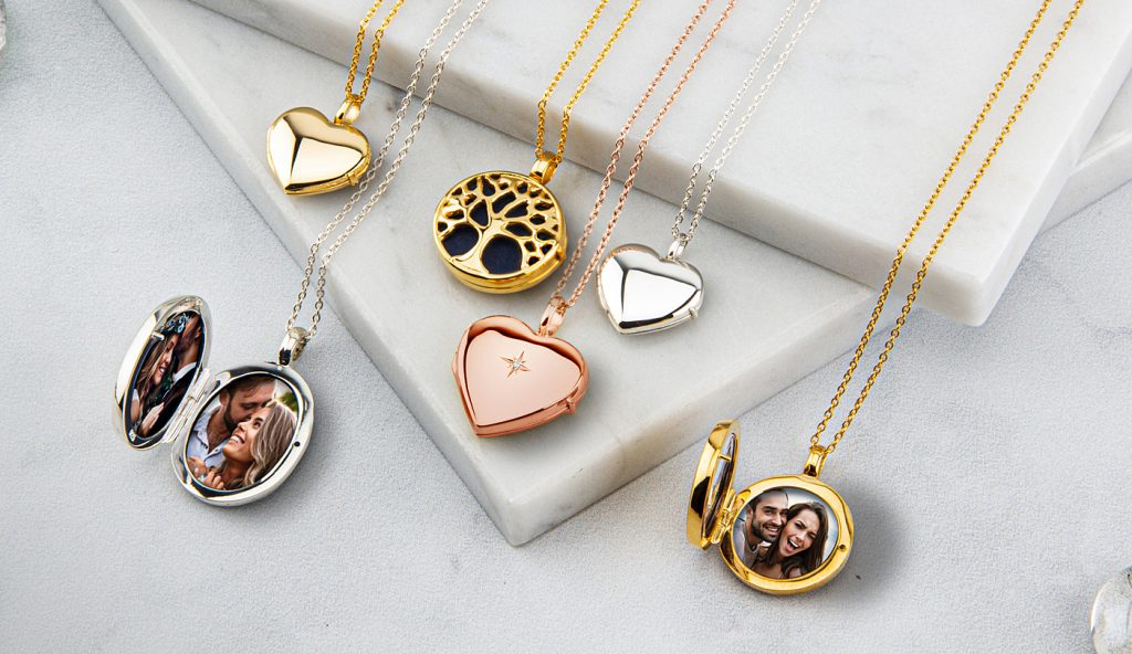 Diamond set solid silver personalized lockets from LoveLox.