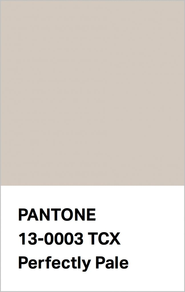 PANTONE 13-0003 Perfectly Pale: Reminiscent of a sandy beach.