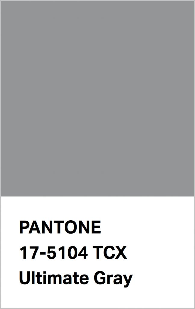 PANTONE 17-5104 Ultimate Gray: Quietly assuring and reliable, Ultimate Gray encourages composure.