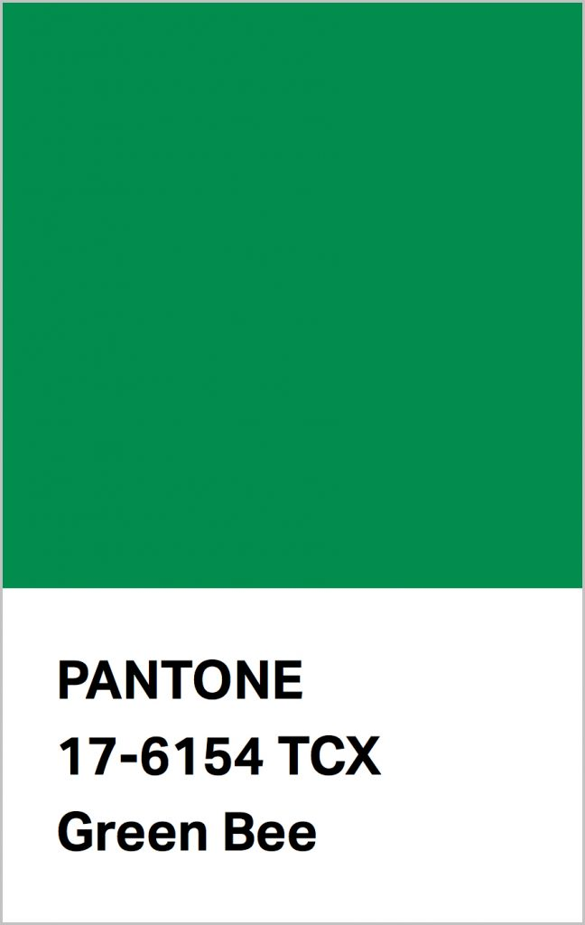 PANTONE 17-6154 Green Bee: A grassy green that perpetuates nature.