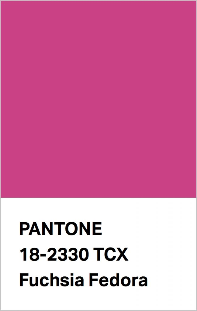 Pantone® Fashion Color Trend Report Autumn/Winter 2021/2022 Colors. PANTONE 18-2330 Fuchsia Fedora.