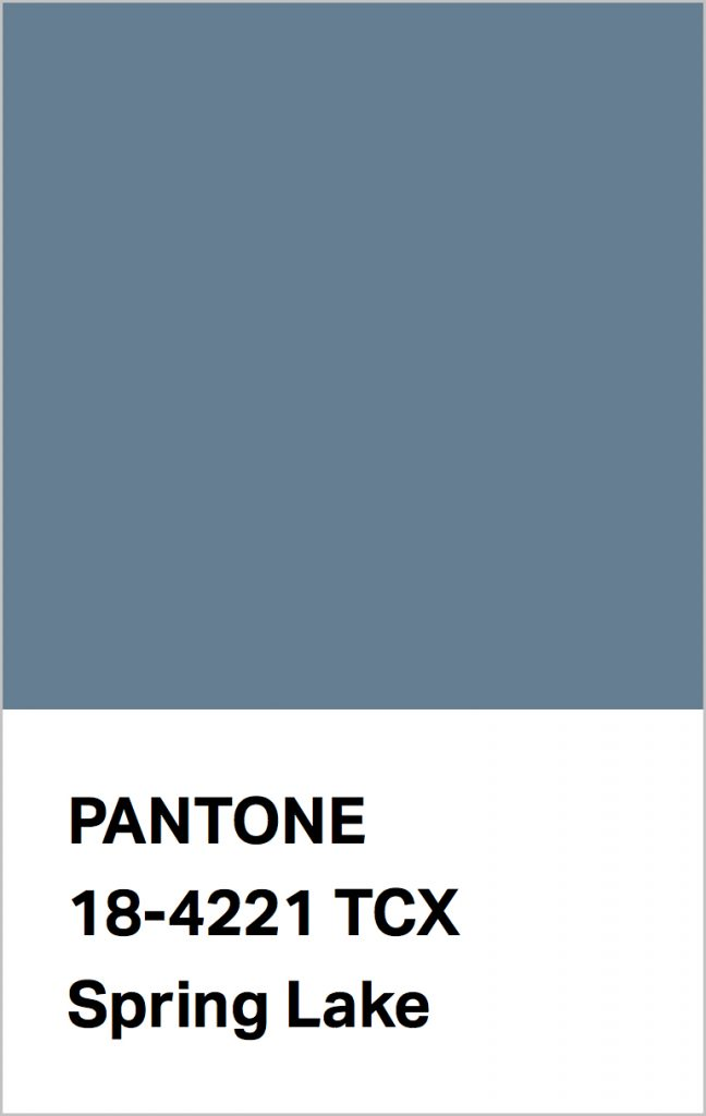 Pantone® Fashion Color Trend Report Autumn/Winter 2021/2022 Colors. PANTONE 18-4221 Spring Lake.