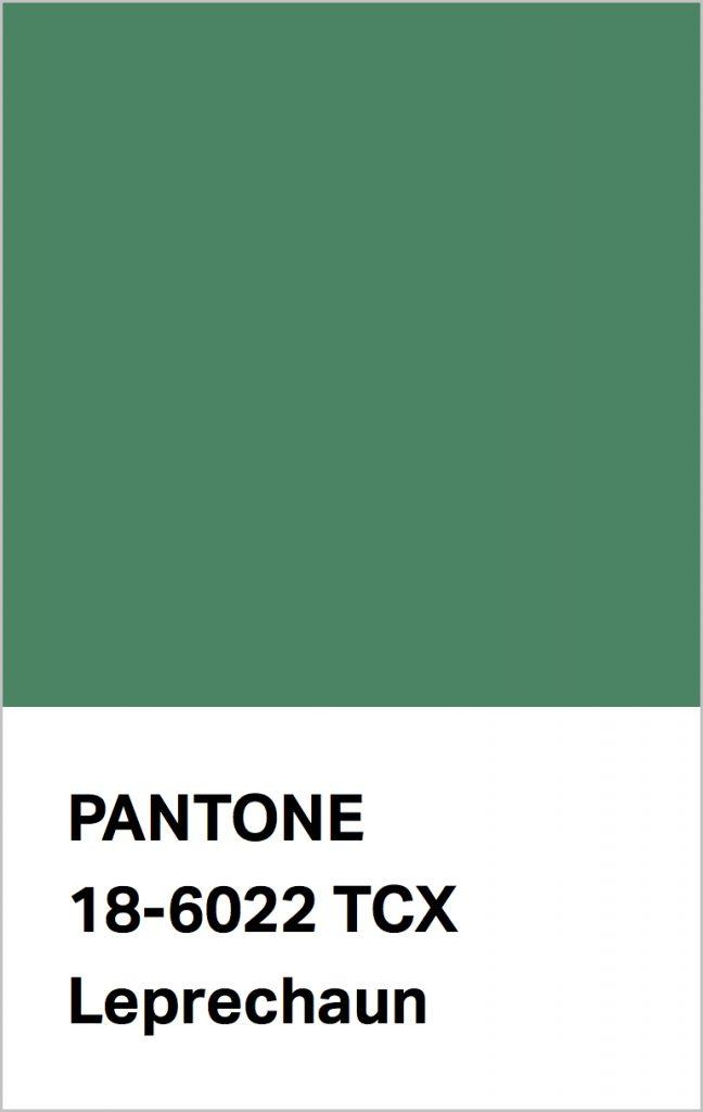 Pantone® Fashion Color Trend Report Autumn/Winter 2021/2022 Colors. PANTONE 18-6022 Leprechaun.