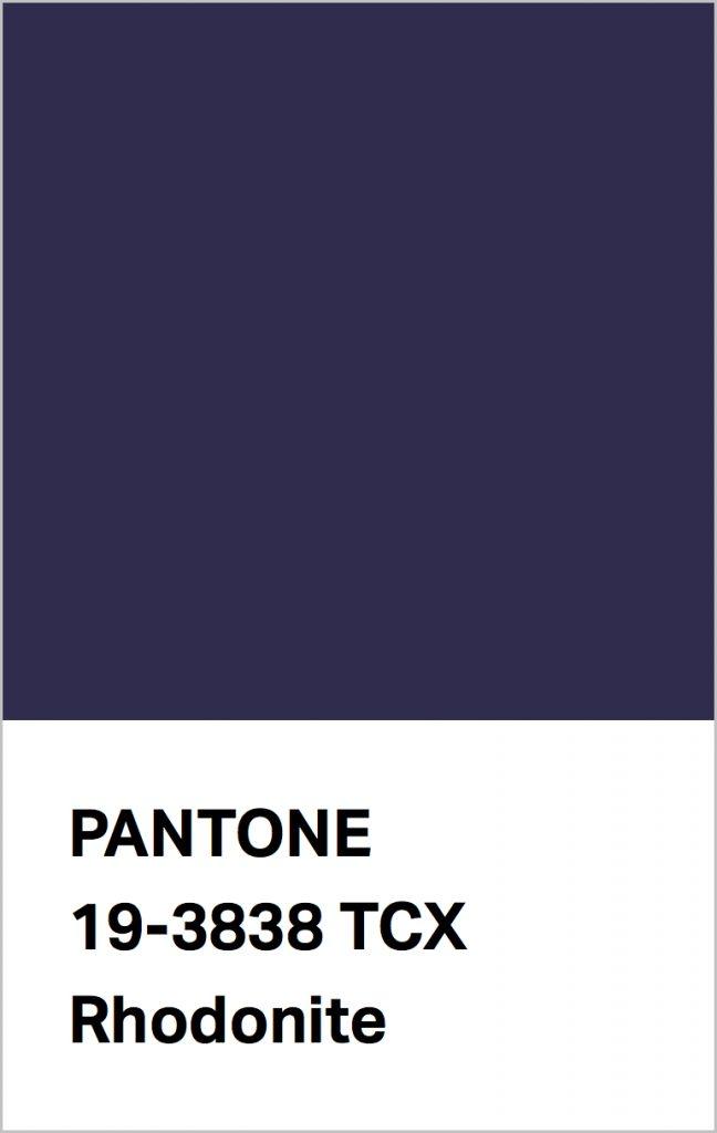 Pantone® Fashion Color Trend Report Autumn/Winter 2021/2022 Colors. PANTONE 19-3838 Rhodonite.