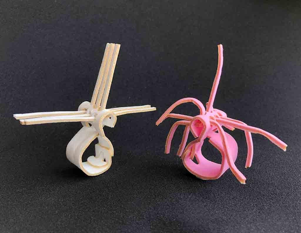 3 x 3 Rings, assembled, PVA 2 mm.
