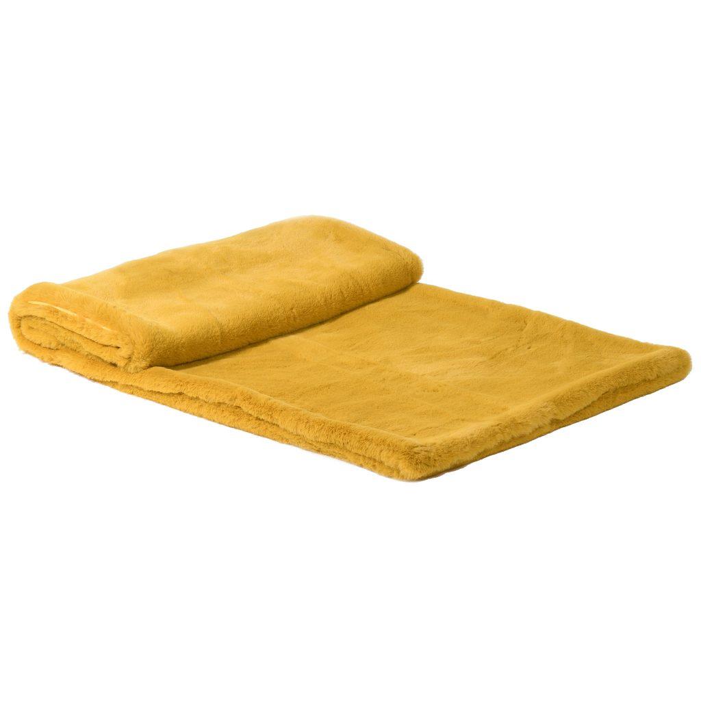 Mustard Yellow Luxurious Faux Fur